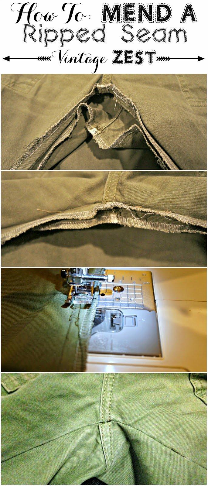 Repairing Ripped Seams 1
