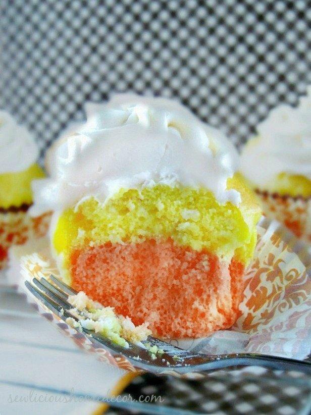 A delicious Candy Corn Cupcakes