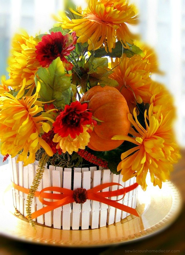 Fall Pumpkin Patch Table Centerpiece