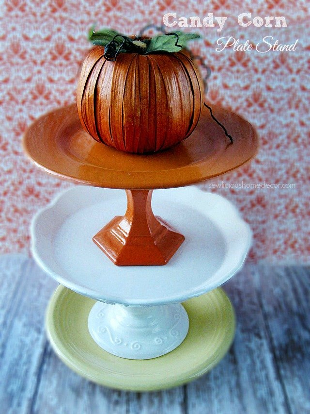 Halloween 3 Tier Candy Corn Plates for Desserts and Snacks