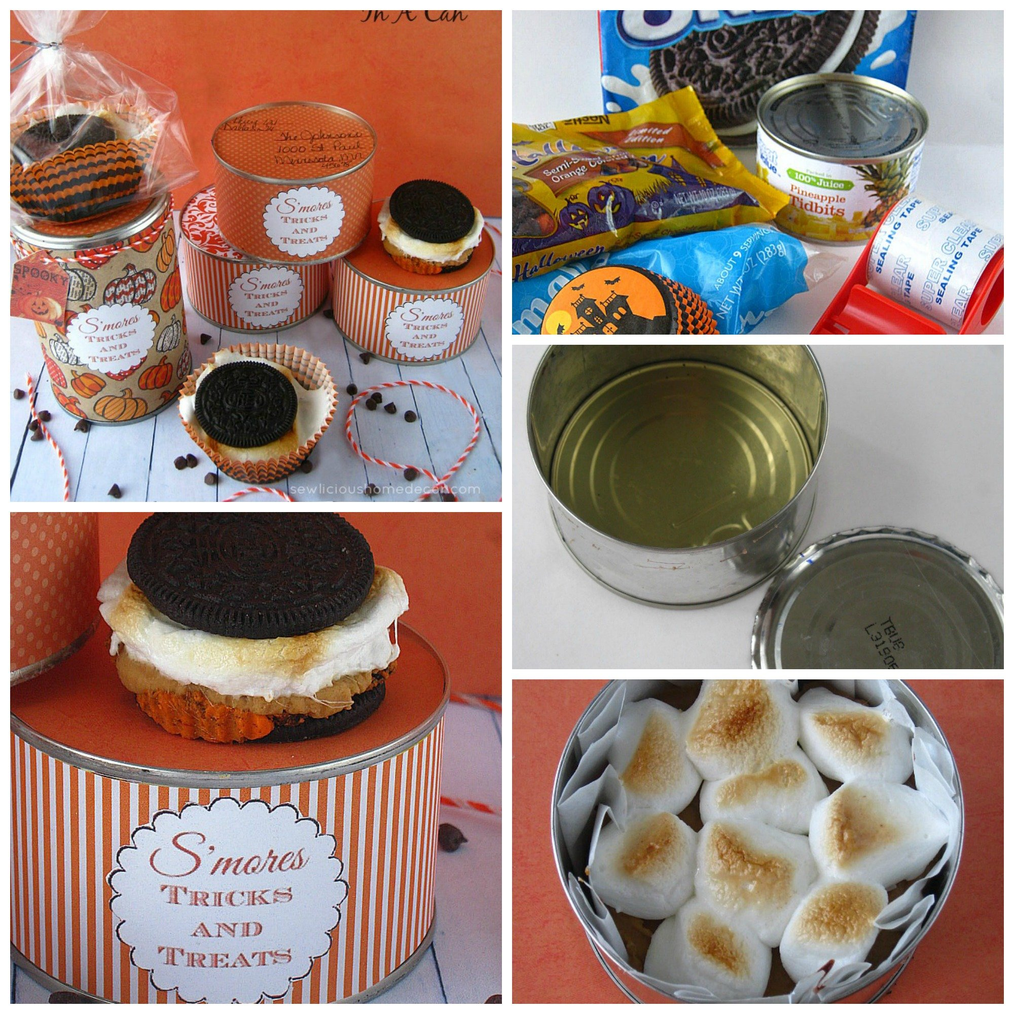 Halloween Smores Kits in a Can