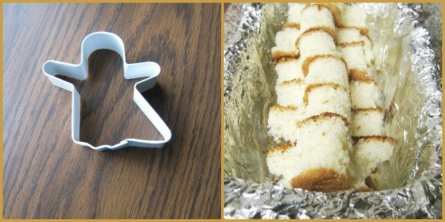 cookie cutter ghost cake