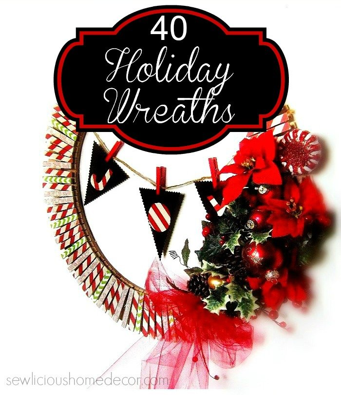 40 Holiday Wreaths