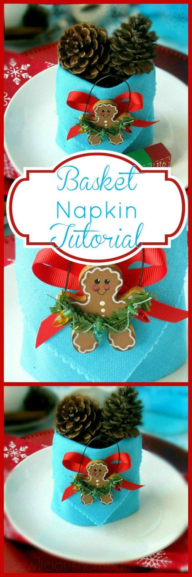 Basket Holiday Napkins