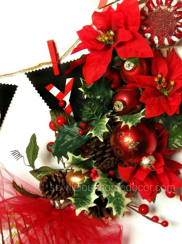 DIY Clothespin Holiday Wreath Tutorial