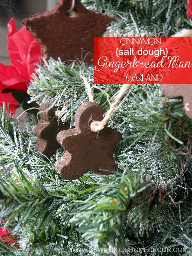 Cinnamon Salt Dough Gingerbread Man Garland by sewlicioushomedecor