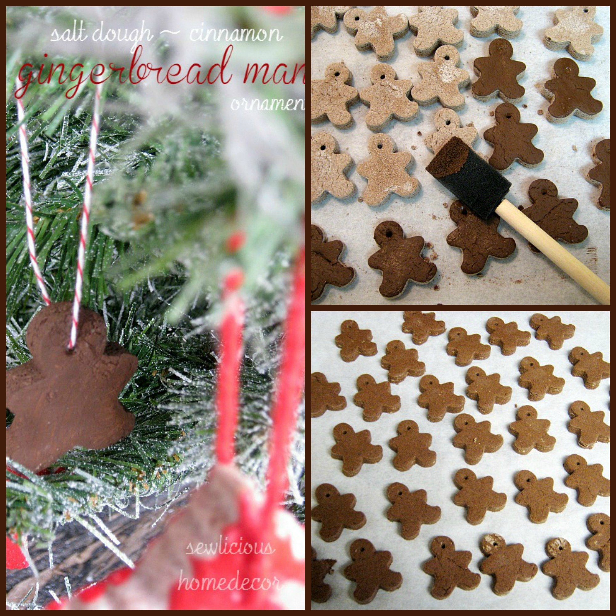 Cinnamon Salt Dough Gingerbread Man Ornament tutorial
