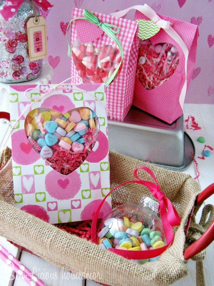 How To Make Valentine Heart Window Treat Bags