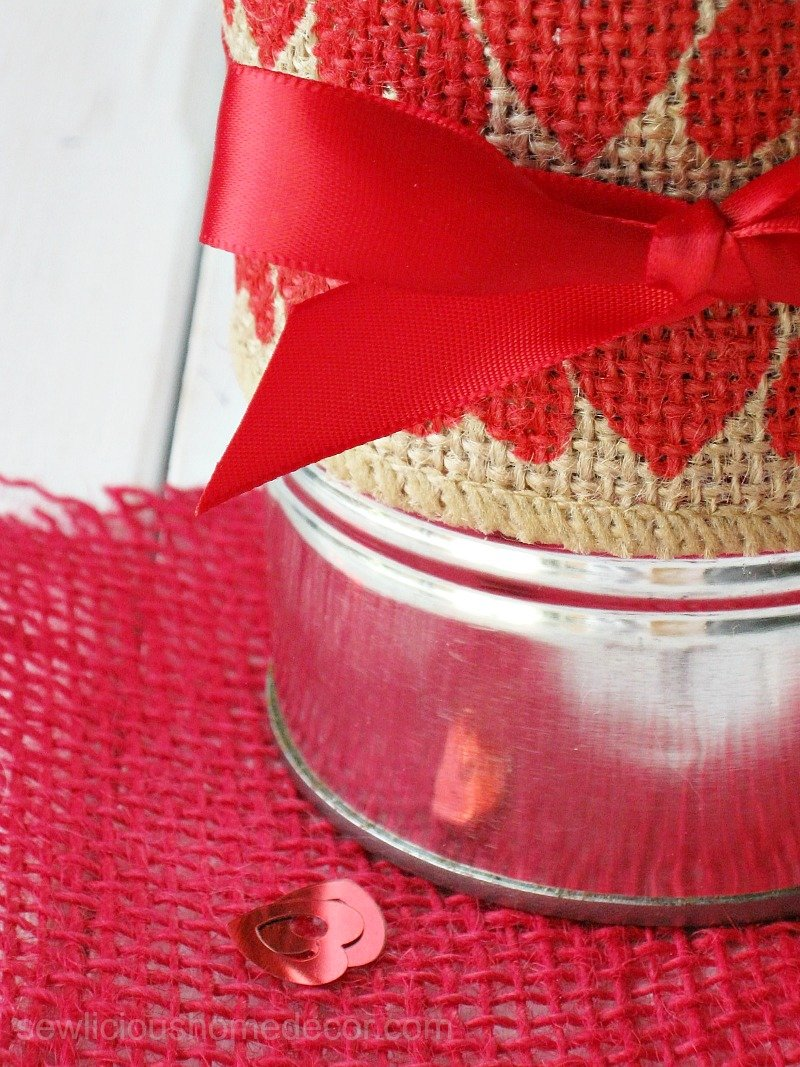Valentine Tin Cans make perfect gifts sewlicioushomedecor.com
