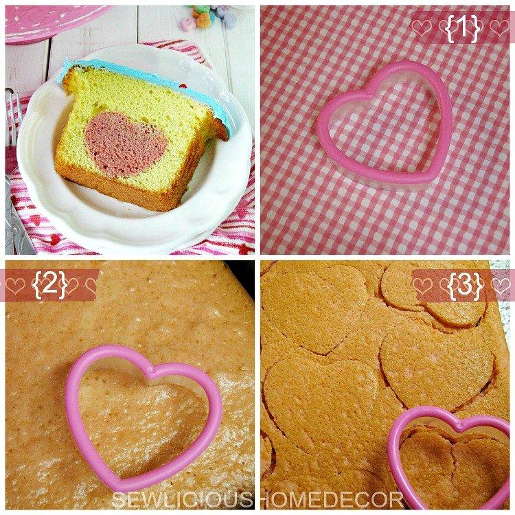 Heart Centered Valentine Cake Tutorial Part 1 sewlicioushomedecor