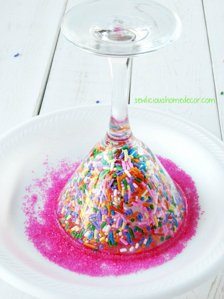 How to dip glasses in funfetti sewlicioushomedecor.com