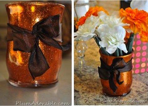Glitter-Vase