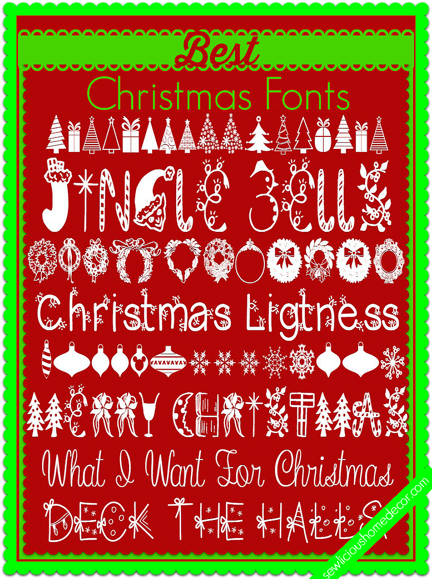 Best Christmas Fonts at sewlicioushomedecor.com