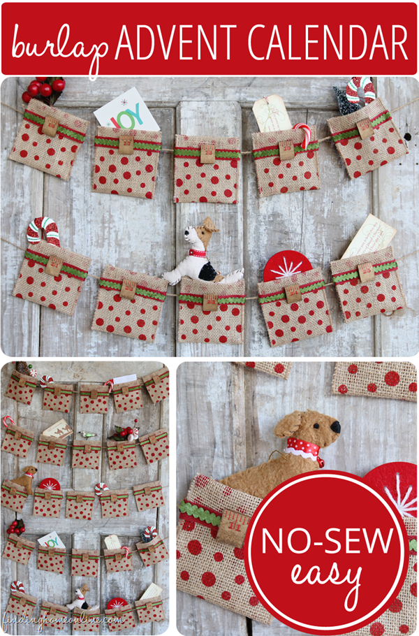 50 Burlap Christmas Decorations Sewlicious Home Decor