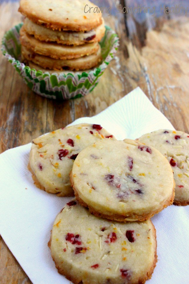 Cranberry Almond Shortbread Cookies