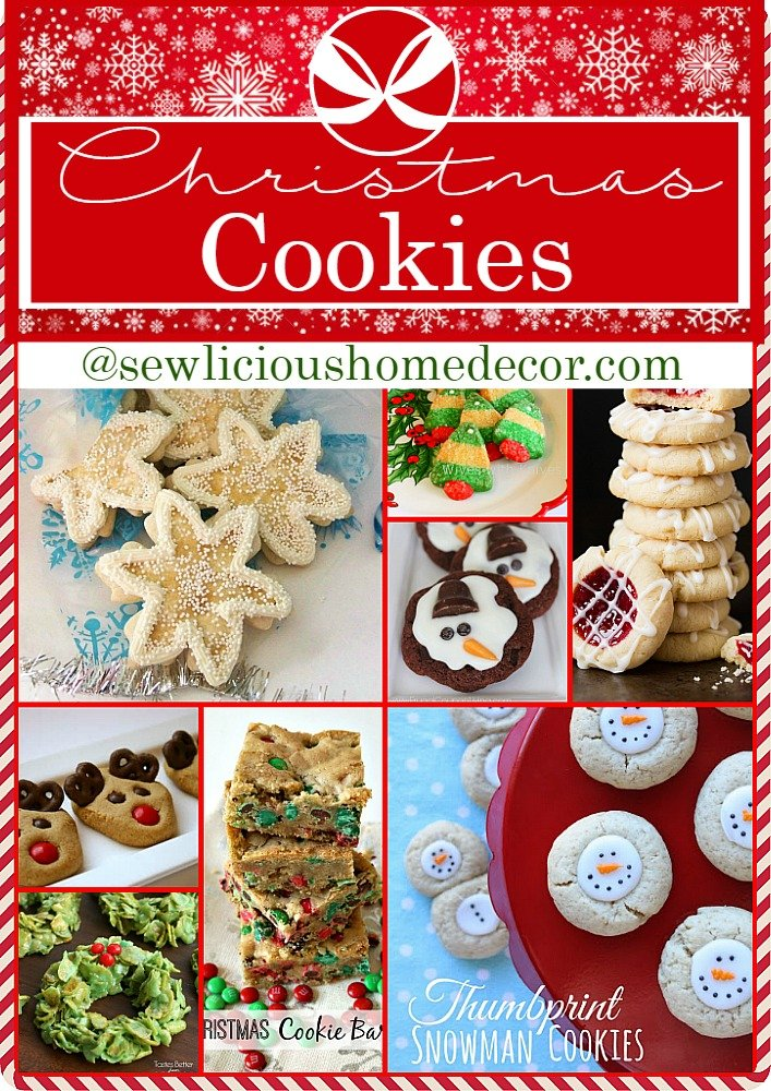 Over 25 Holiday Christmas Cookies Get more holiday ideas at sewlicioushomedecor.com