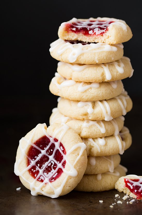 raspberry-almond-thumbprint-cookies