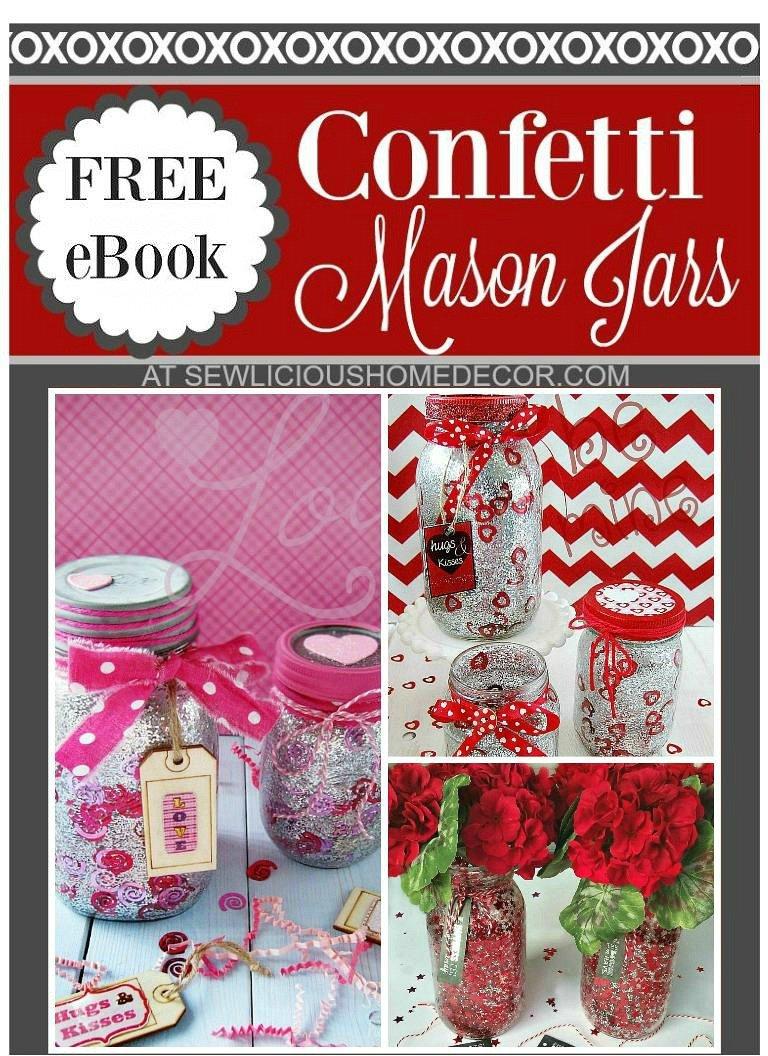 DIY Confetti Jars eBook at sewlicioushomedecor.com