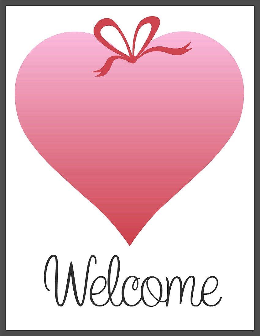 Pink Ombre Heart Valentine Printables at sewlicioushomedecor.com