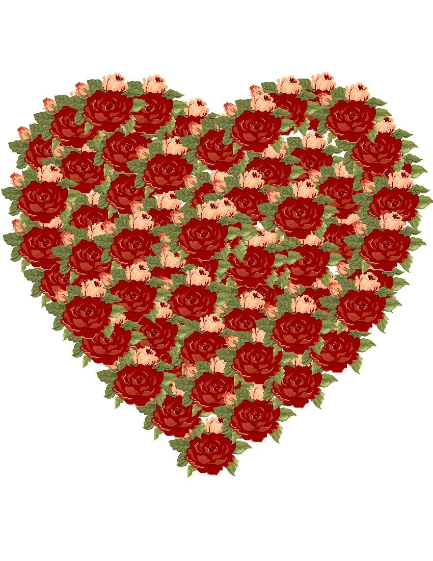 Rose Valentine Heart at sewlicioushomedecor.com