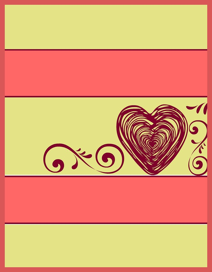 Striped Valentine Heart printable at sewlicioushomedecor.com
