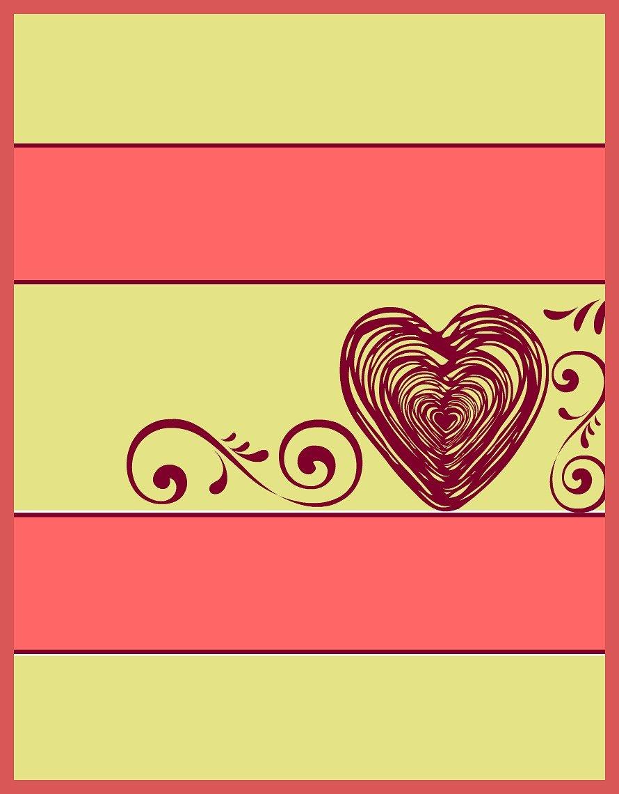 Striped Valentine Heart printable at sewlicioushomedecor.com