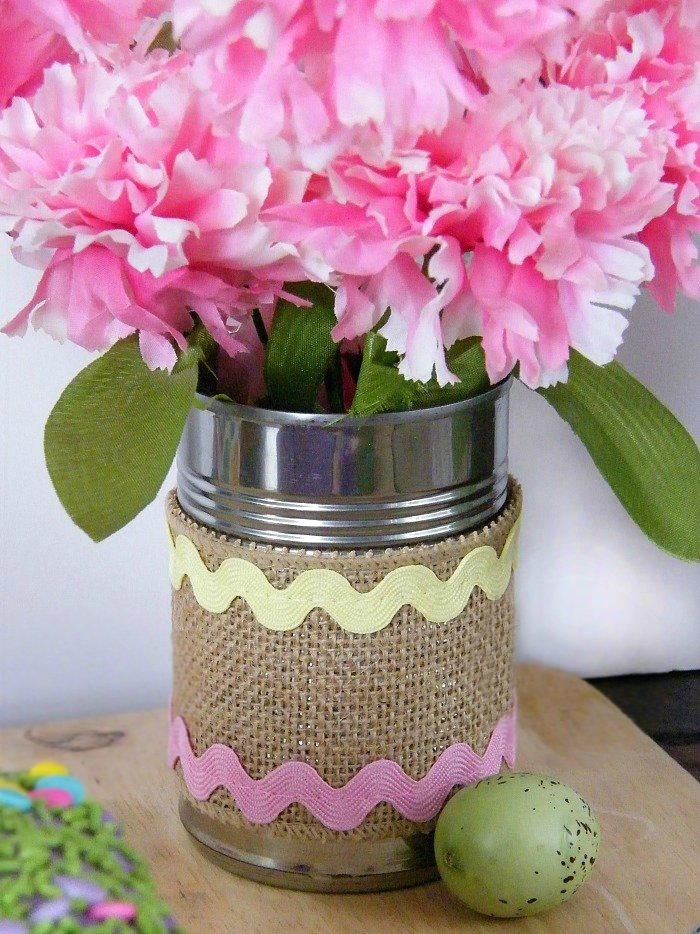 Decorative Easter Tin Can sewlicioushomedecor.com