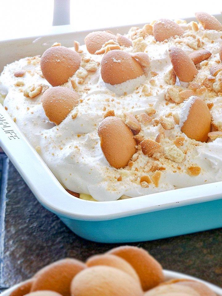 Delicious Banana Pudding Poke Cake sewlicioushomedecor.com