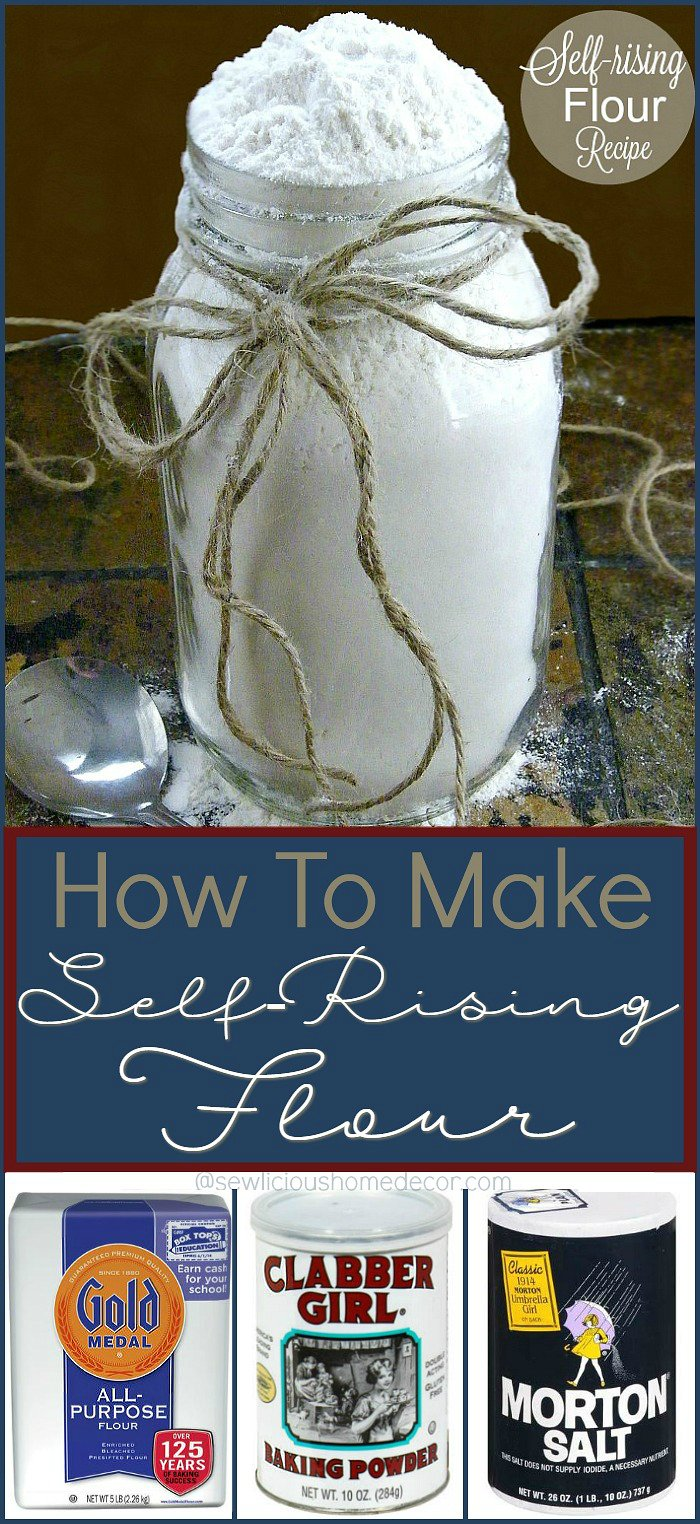 How To Make Self Rising Flour Recipe Using Flour Baking Soda and Salt sewlicioushomedecor.com