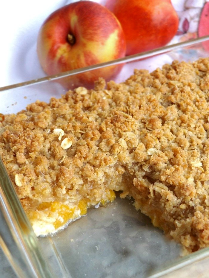 Peach Cobbler Made With Yellow Cake Mix