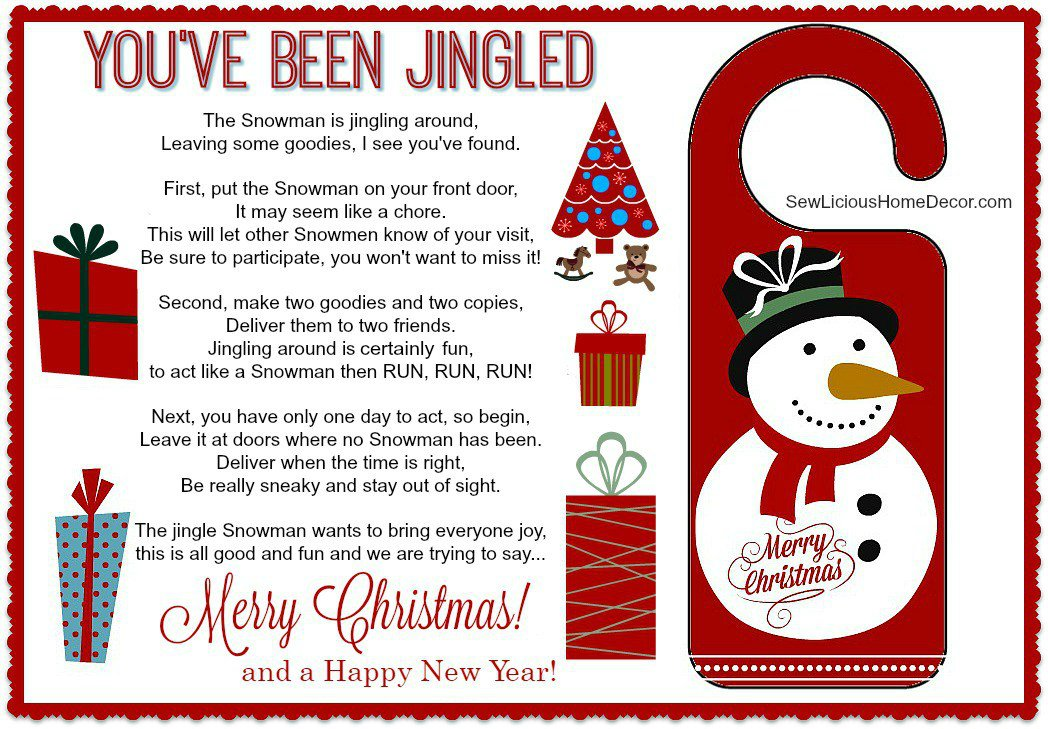 photo regarding You've Been Elfed Printable called Youve Been Jingled Absolutely free Xmas Printable