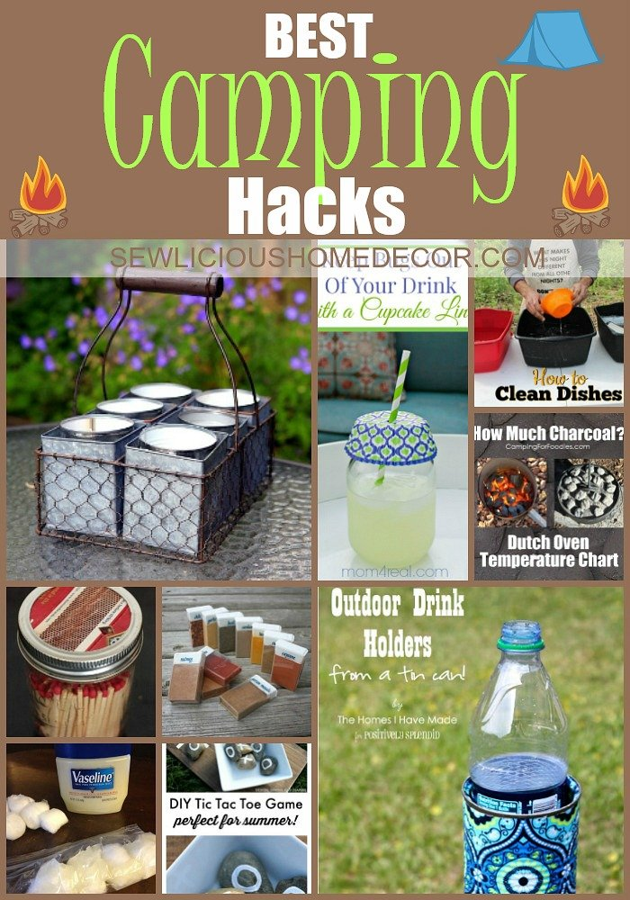 Best Camping Hacks at sewlicioushomedecor.com