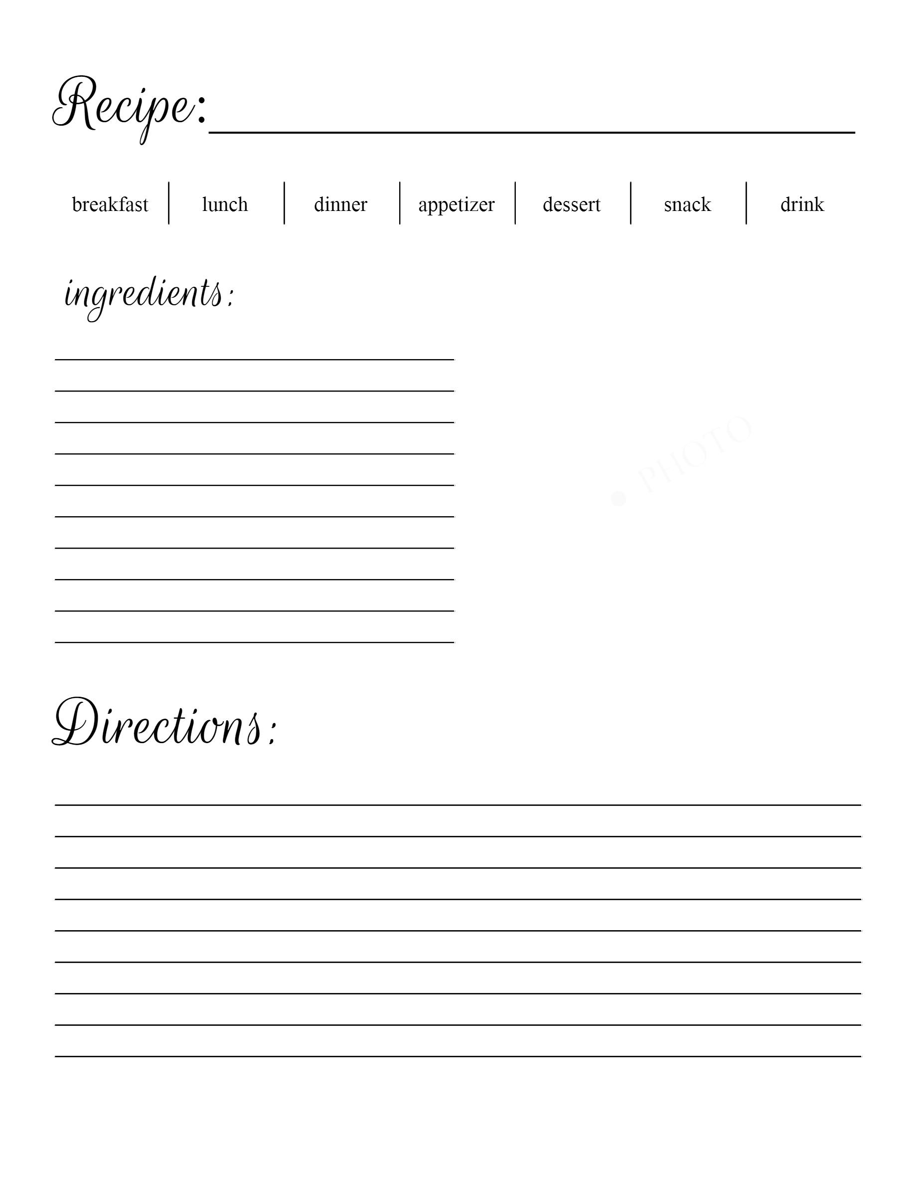 Free Recipe Printable at sewlicioushomedecor.com