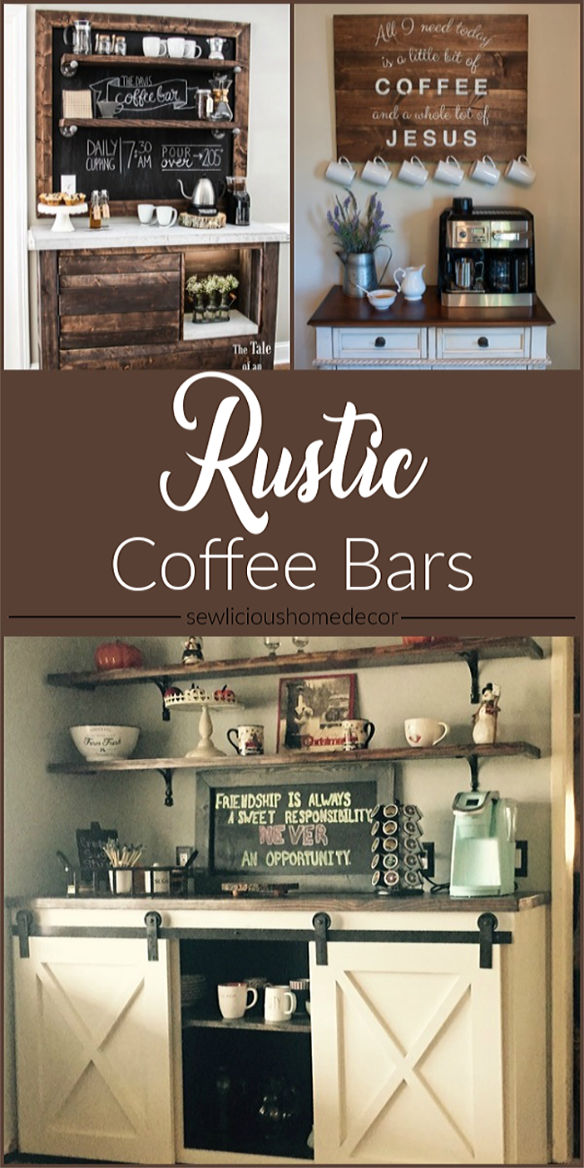 Diy Upcycled Rustic Coffee Bars Sewlicious Home Decor