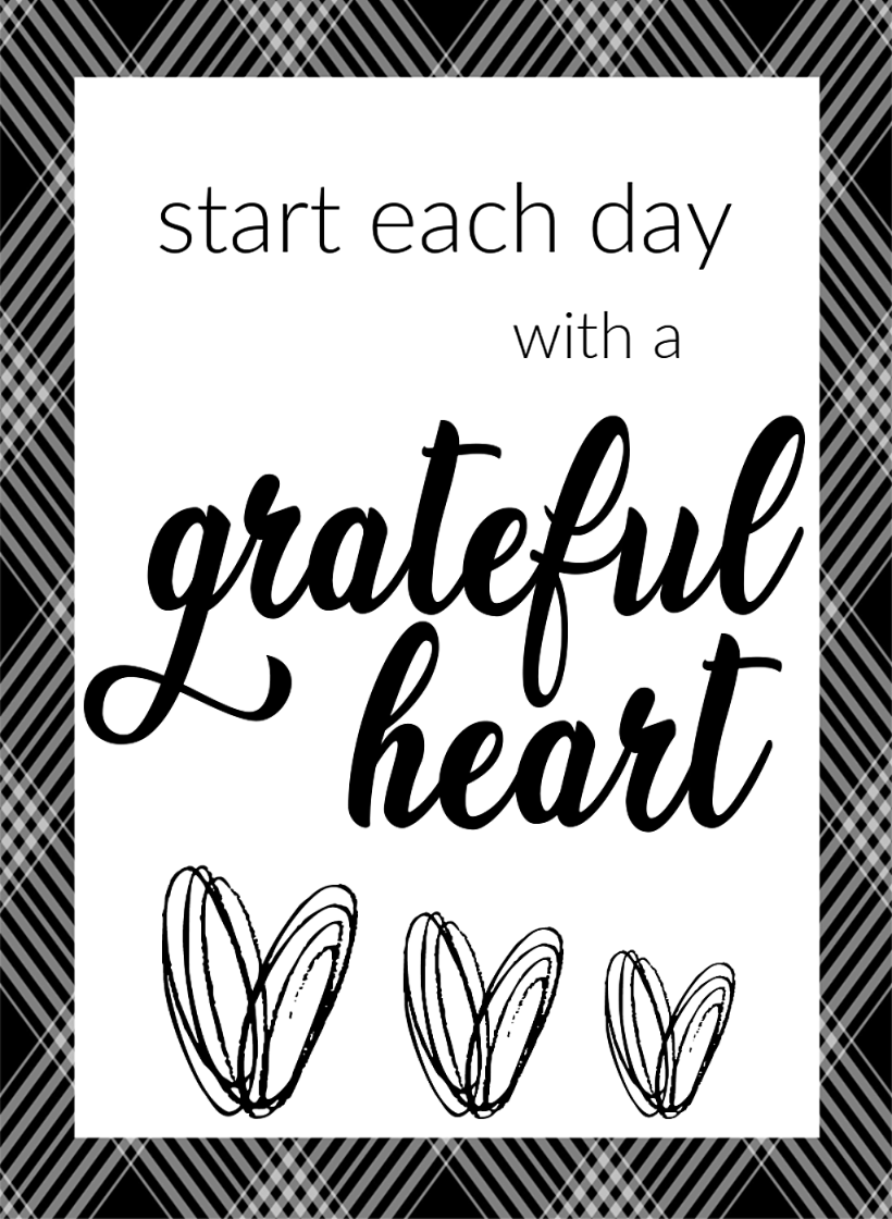 photo about Farmhouse Printable referred to as Start out Each and every Working day With A Thankful Centre Totally free Farmhouse