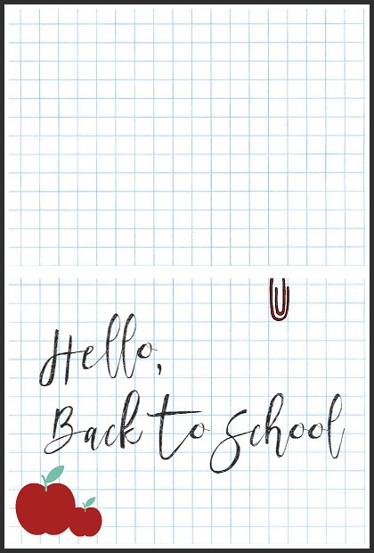 Hello Back To School Free Note Cards at sewlicioiushomedecor