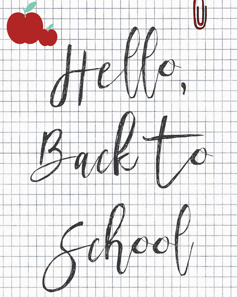 Hello Back To School Free Printable sewlicioushomedecor