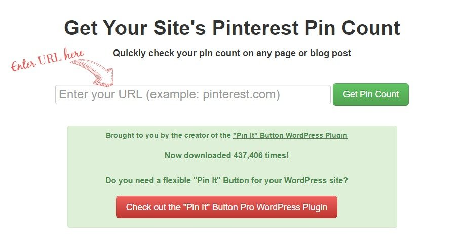 Pinterest Pin Count