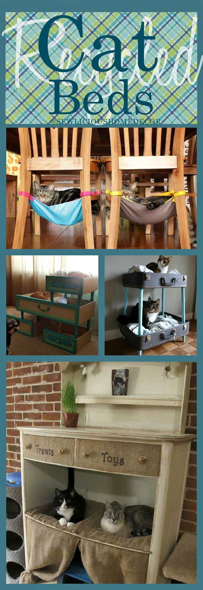Recycled Cat Beds at sewlicioushomedecor.com