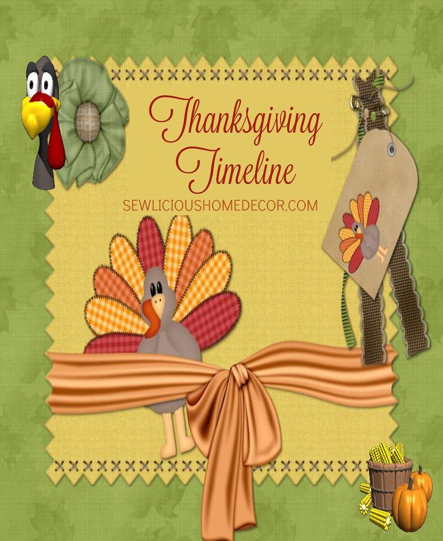 Thanksgiving Timeline Preperations