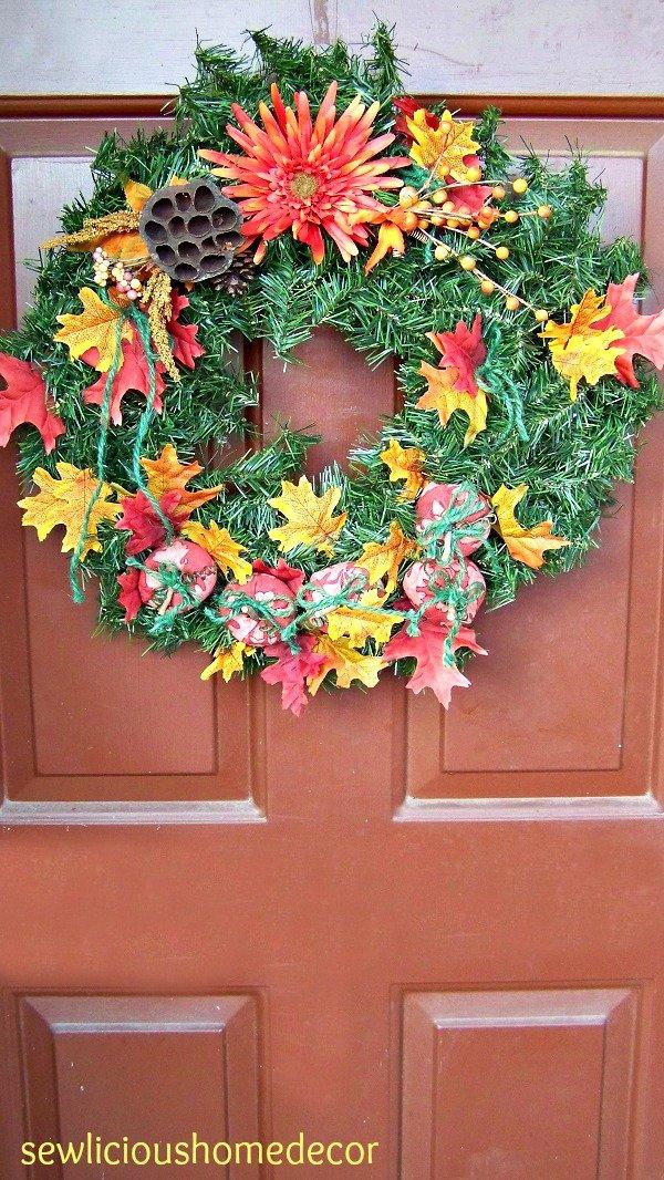 Fall pumpkin tutorial wreath