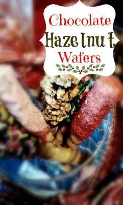 candy coated chocolate hazelnut wafers