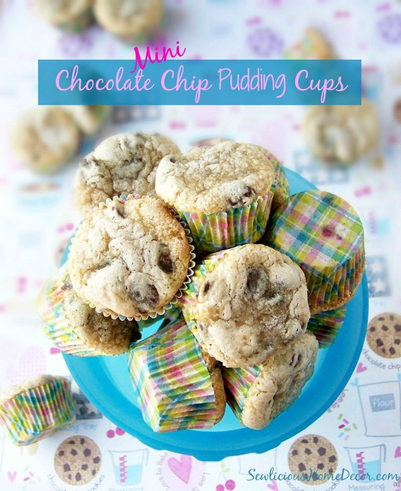 Mini Chocolate Chip Oatmeal Pudding Cups at sewlicioushomedecor.com
