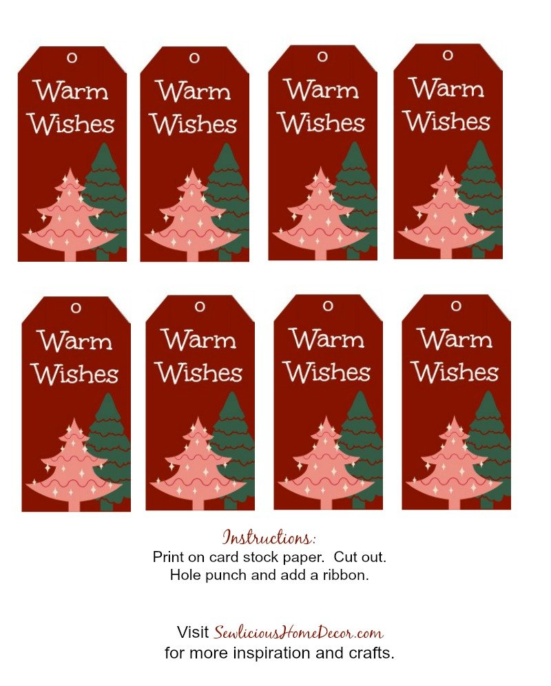 Warm Wishes Gift Tags