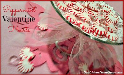 Peppermint valentines day hearts