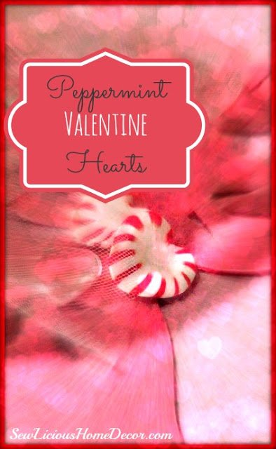 Peppermint valentines days hearts