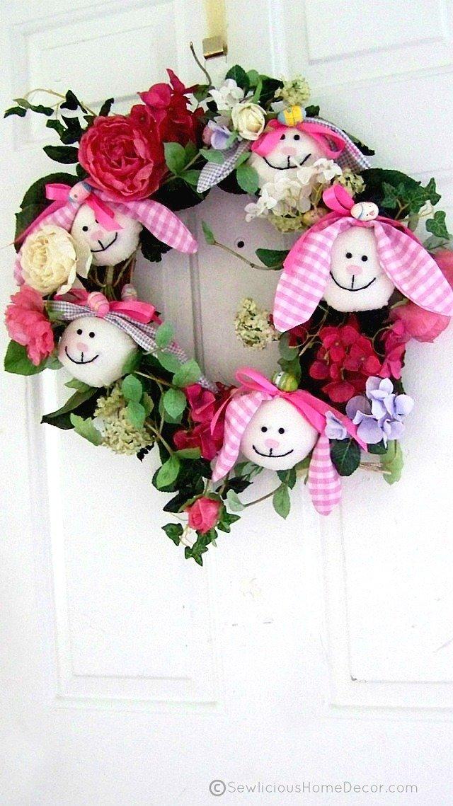 Easter Bunny Wreath Tutorial