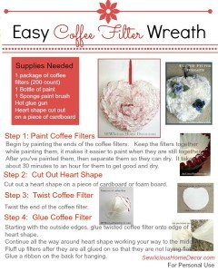 Easy Coffee Filter Wreath Tutorial