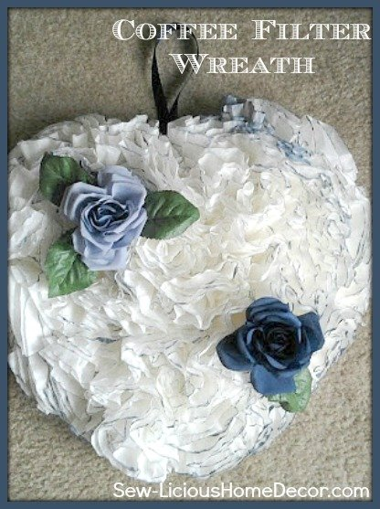 how-to-make-a-blue-coffee-filter-wreath