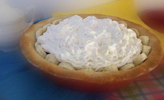 blueberry banana cream pie topping